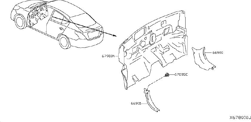 Nissan Versa Engine Compartment Insulation (Lower). SED