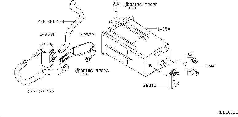 Nissan Xterra Evaporator Canister Vent Control Valve