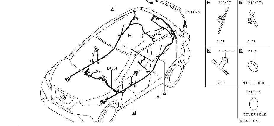 Nissan Kicks Radiator Coolant Hose Clip. PBW, INERT