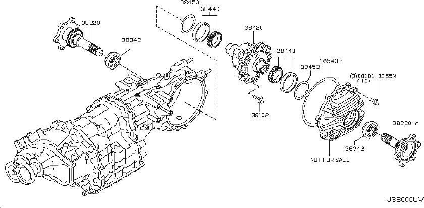 Nissan GT-R Shim Adjust, Side Bearing. DRIVE, FINAL