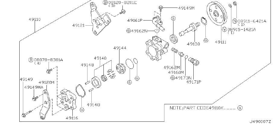 Nissan Pathfinder Pin CAMRING, Power Steering Pump. STR