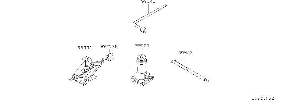 Nissan Pathfinder Jack Complete. Jack ORDINARY Screw Type