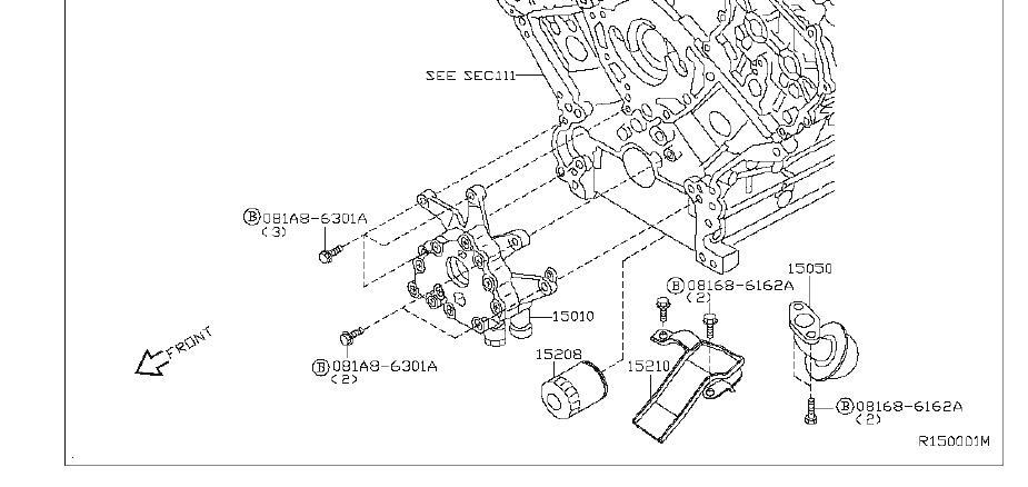 Nissan Pathfinder Engine Oil Pump. LUBRICATION, SYSTEM