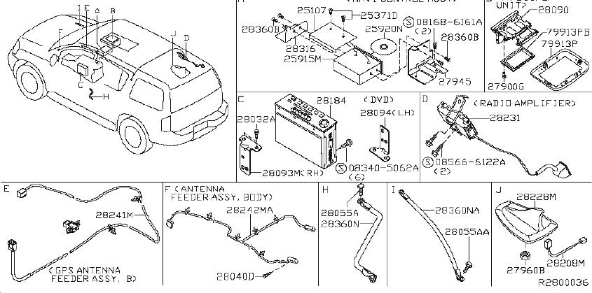 Nissan Pathfinder Cover Antenna Base. FOSGA, CONNECT
