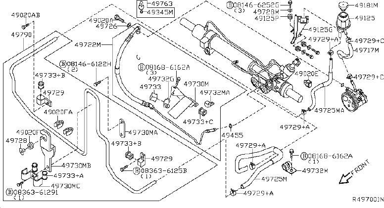 Nissan Pathfinder Hose Suction, Power Steering. Power
