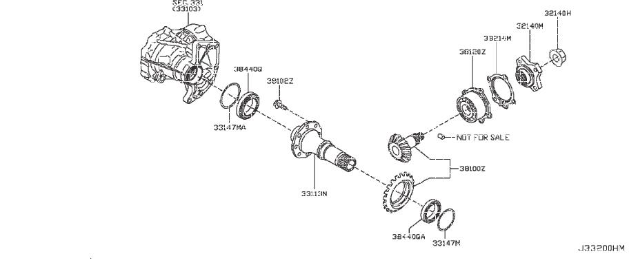Nissan Pathfinder Transfer Case Output Shaft Bearing