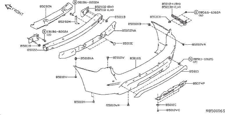 Nissan Pathfinder Bumper Cover Spacer Panel (Rear