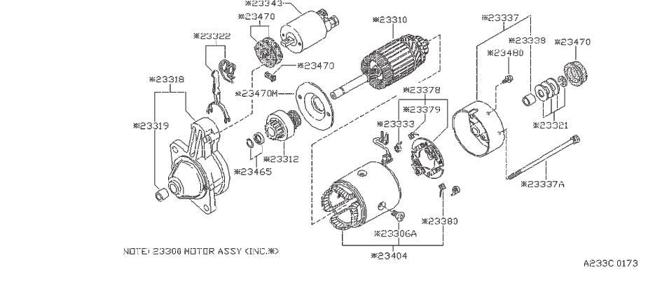 Datsun 610S Care Gear. Metal Gear, Case. (Front). HITACHI
