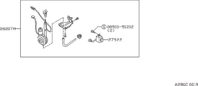 Nissan Sentra Condenser Alternator. Suppressor Noise. VOL