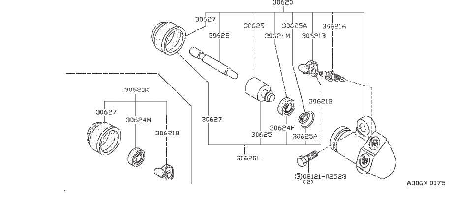 Nissan Pulsar NX Cap Bleeder. Repair Kit Clutch Operating