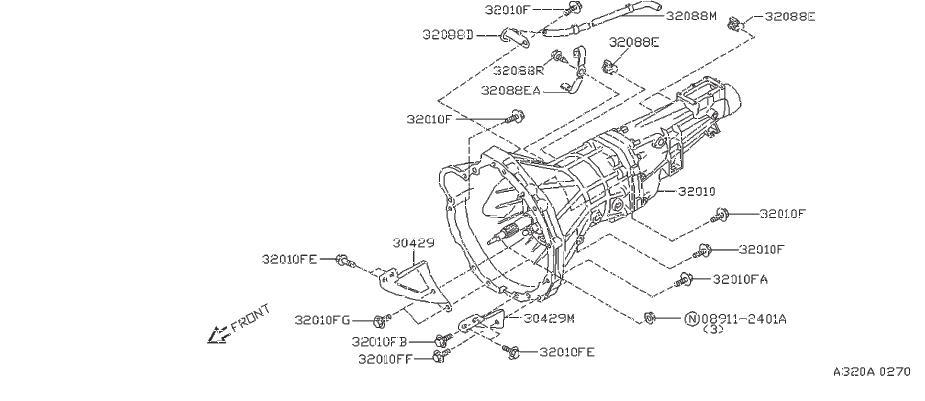 Nissan 240SX Clip Breather Hose. Clip Breather Tube