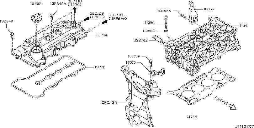 Nissan Versa Engine Cylinder Head Gasket. COMPONENT