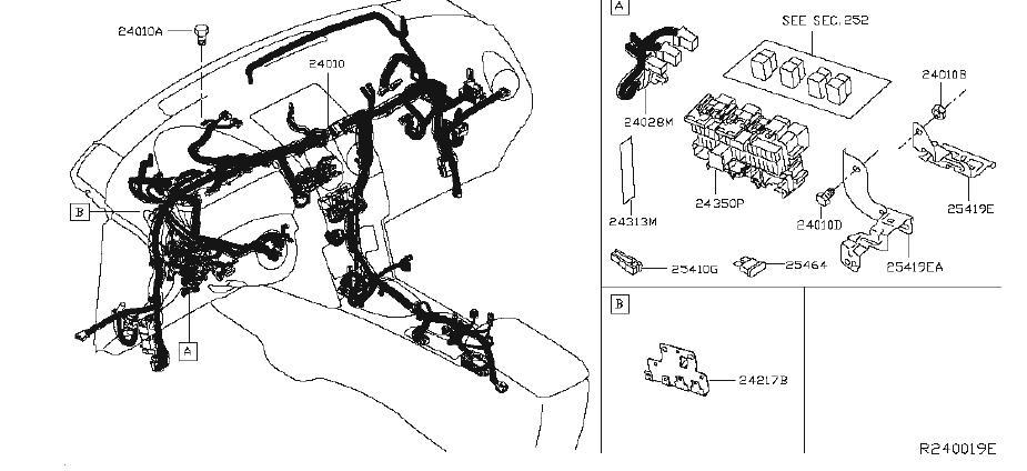 Nissan Rogue Engine Wiring Harness. EGI, ROOM, MAIN