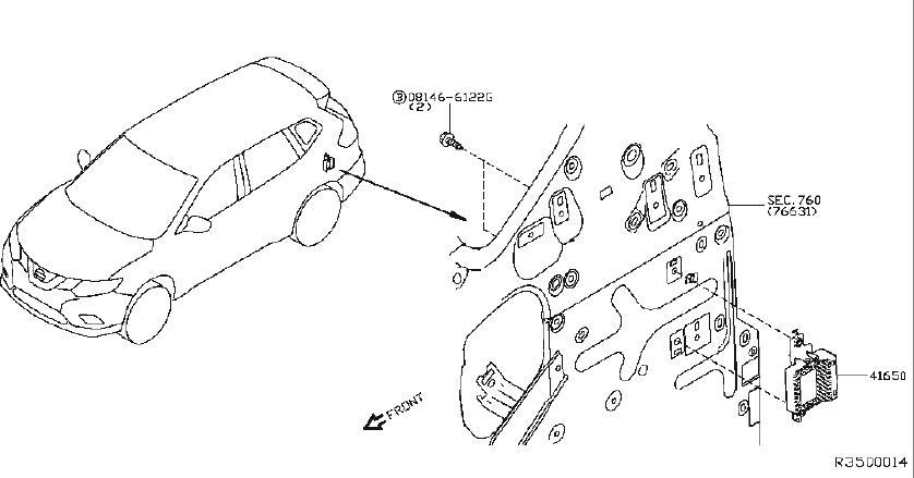 Nissan Rogue Controller Torque SPLIT. AWD, TRANSFER