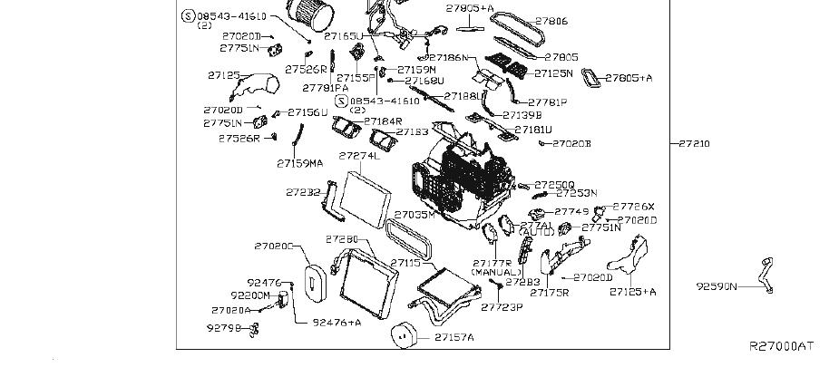Nissan Rogue Hvac System Wiring Harness (Lower). PREM