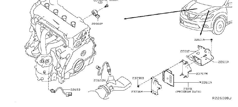 Nissan Rogue Oxygen Sensor. CONTROL, MODULE, ENGINE