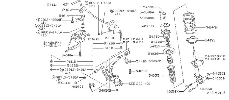 Nissan Quest Suspension Strut (Right, Front). EXTRA
