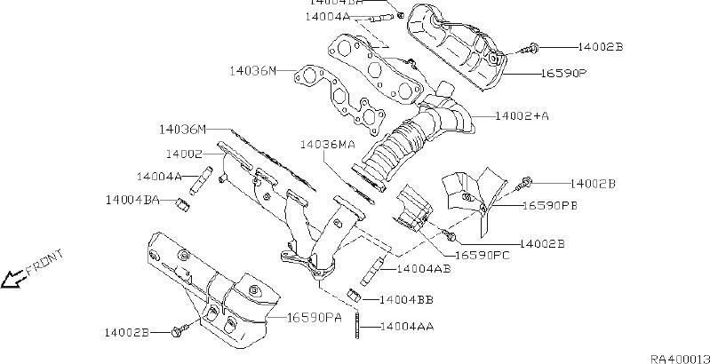 Nissan Quest Exhaust Manifold Heat Shield. CAL, FED