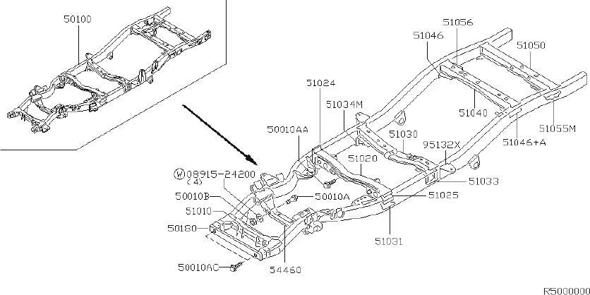 Nissan Xterra Suspension Subframe Crossmember (Front