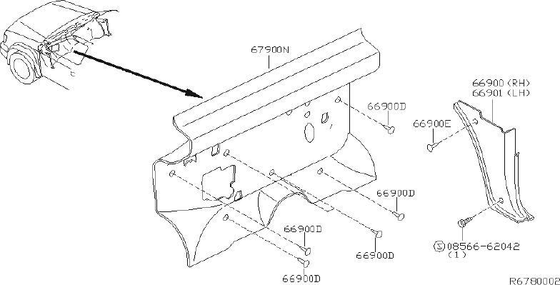 Nissan Xterra Engine Compartment Insulation (Lower). SAGE