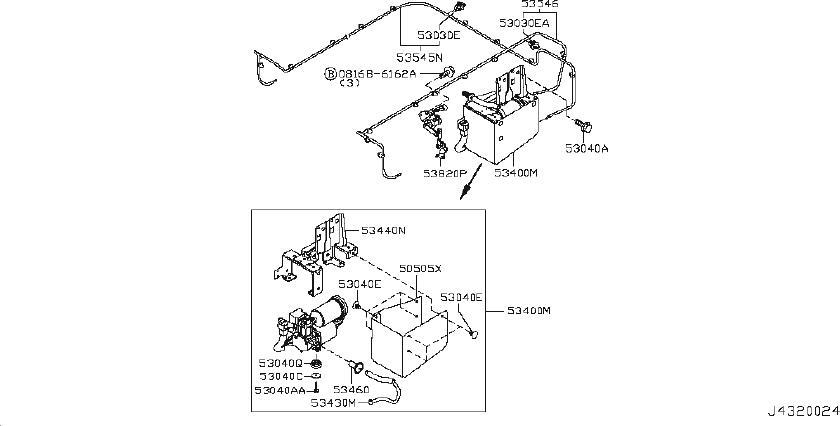 Nissan Armada Air Suspension Compressor Line (Right, Rear