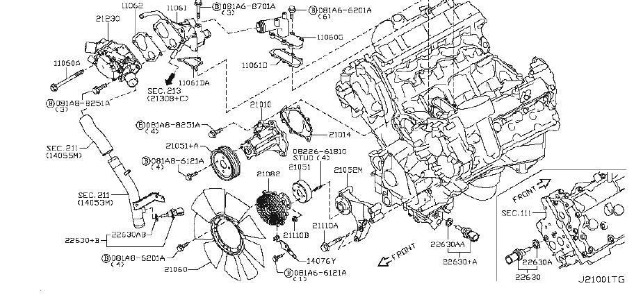 Nissan Armada Engine Coolant Temperature Sensor
