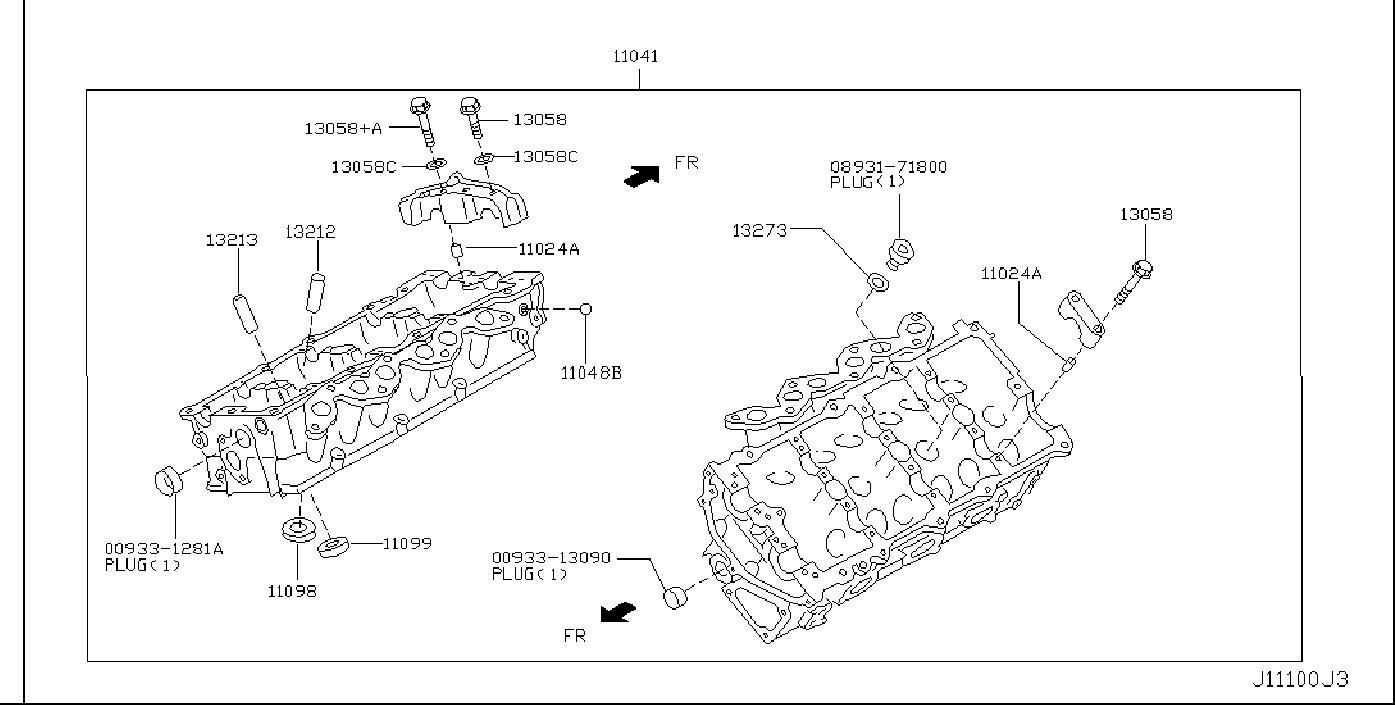 Nissan 350Z Slinger Engine. COMPONENT, ROCKER, HEAD