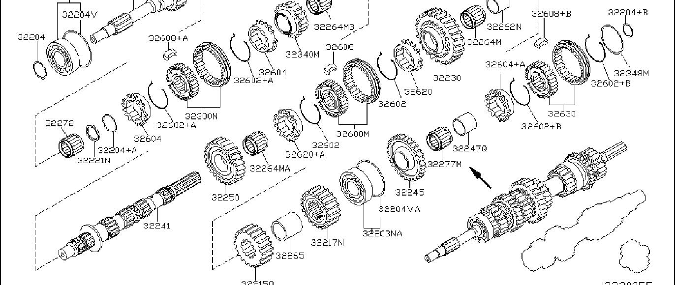 Nissan 350Z Manual Transmission Idler Bearing. SHAFT