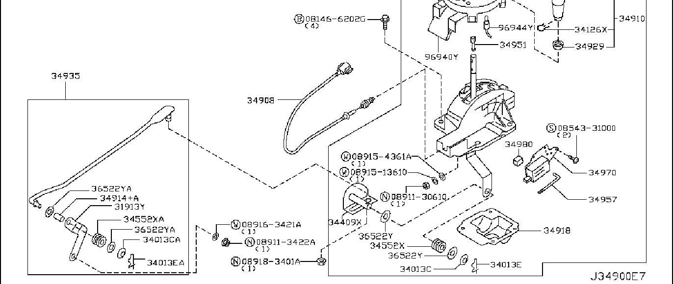 Nissan 350Z Shift Interlock Solenoid. TRANSMISSION, AUTO