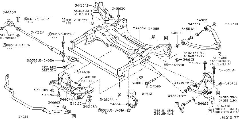 Nissan 370Z Member Complete Suspension. (Front). JOURNEY