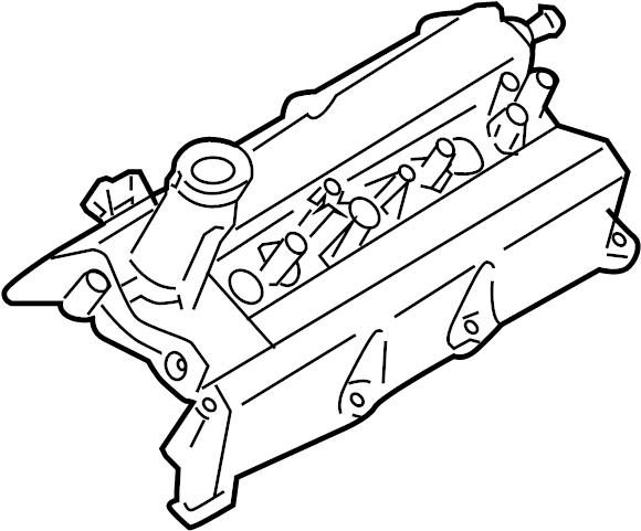 Nissan Maxima Engine Valve Cover. COMPONENT, ASSEMBLY