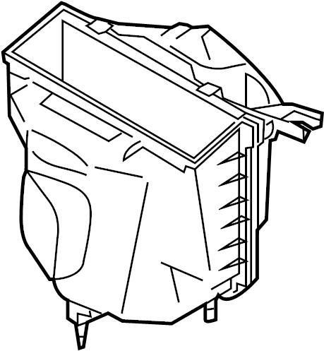 2004 Nissan 350Z Air Filter Housing. CLEANER, Engine