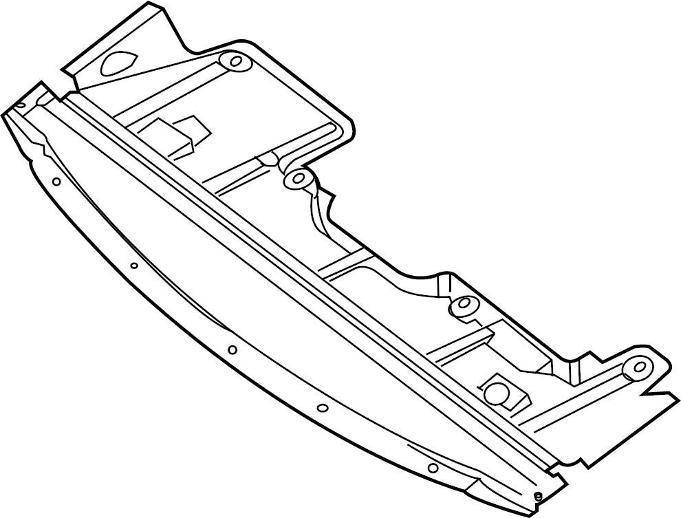 Nissan Maxima Radiator Support Splash Shield (Lower
