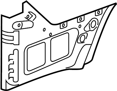 Nissan 300ZX Exten (Rr) Fdr. Extension Fender. (Right