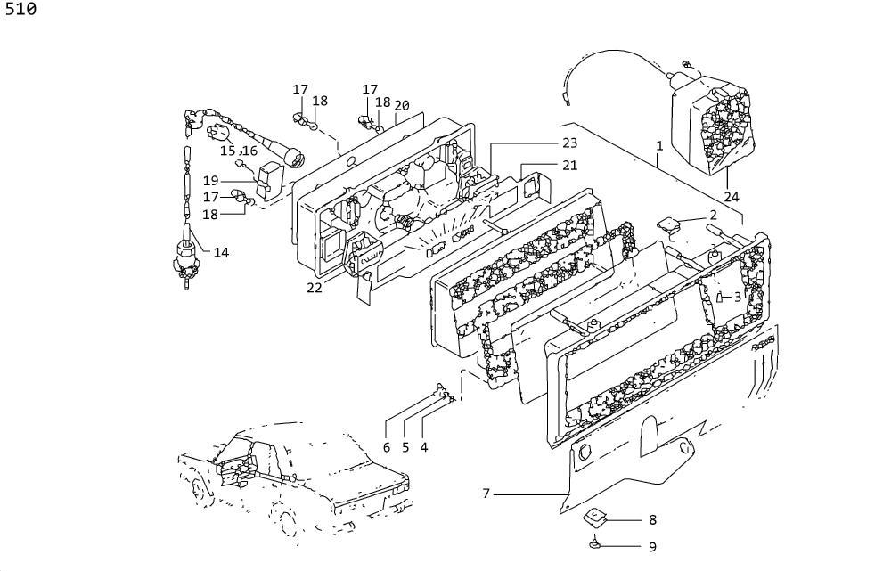 Datsun 240Z Clip Hose. Clip Speedometer Cab. Grommet Cable