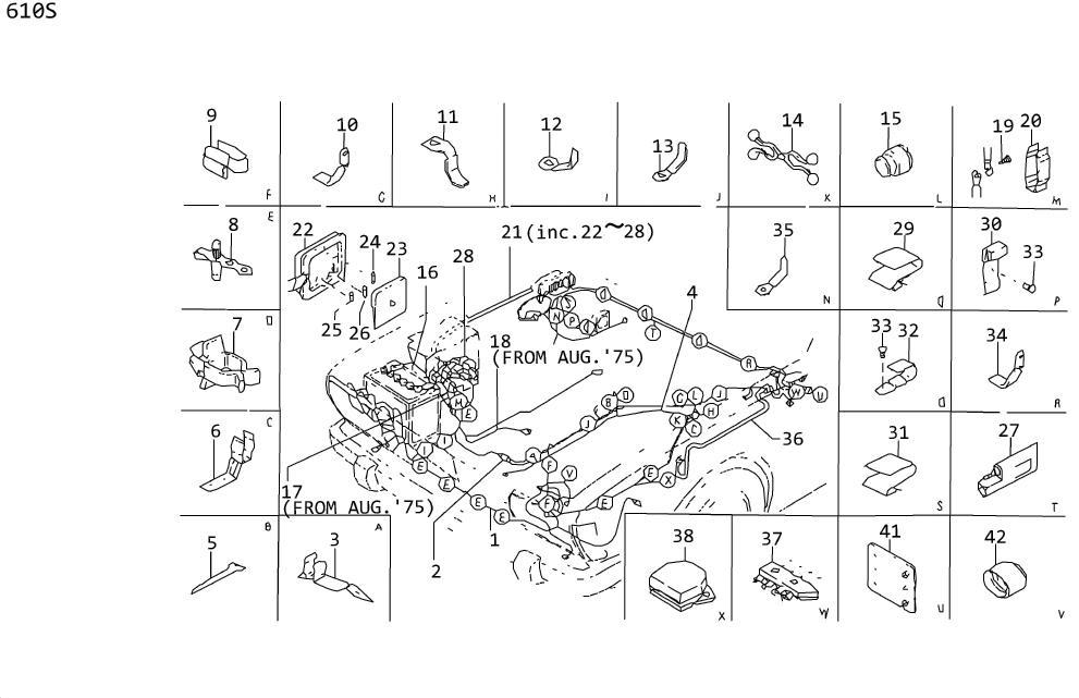 Nissan 620 Screw Hex. Terminal Block DISTRIBUT OR Harness