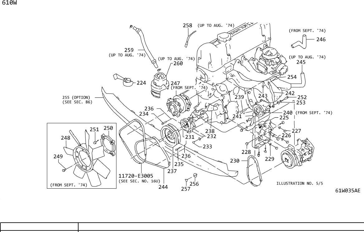 Datsun 280Z Clip. Cushion Fan Mount (Fan FIX). Mounting