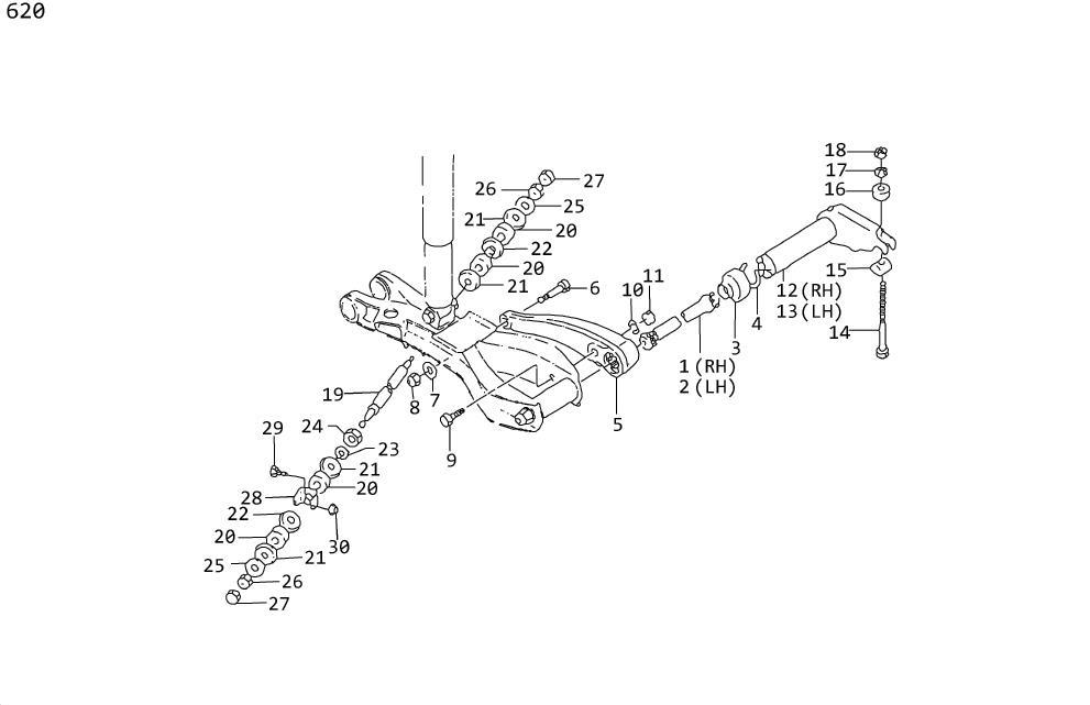 1978 Datsun 620 Suspension Stabilizer Bar Link Nut (Left
