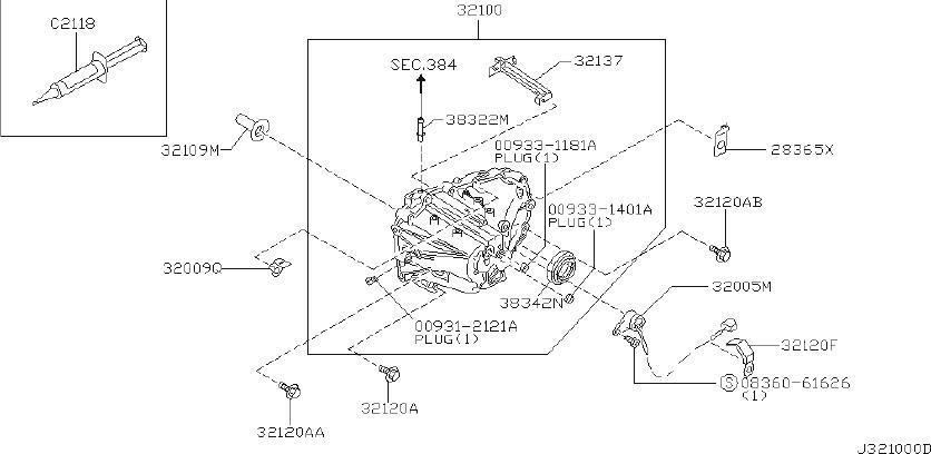 1986 Nissan Maxima Manual Transmission Input Shaft Seal