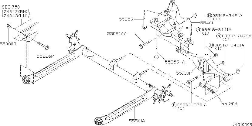 2001 Nissan Maxima Suspension Strut Mount Cap Seal