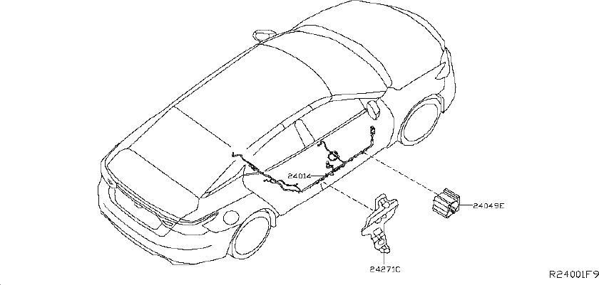 Nissan Maxima Fog Light Wiring Harness. FWD, COLLISION