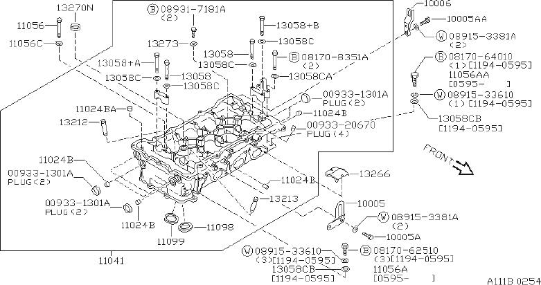 1992 Nissan Sentra Engine Cylinder Head Bolt Washer