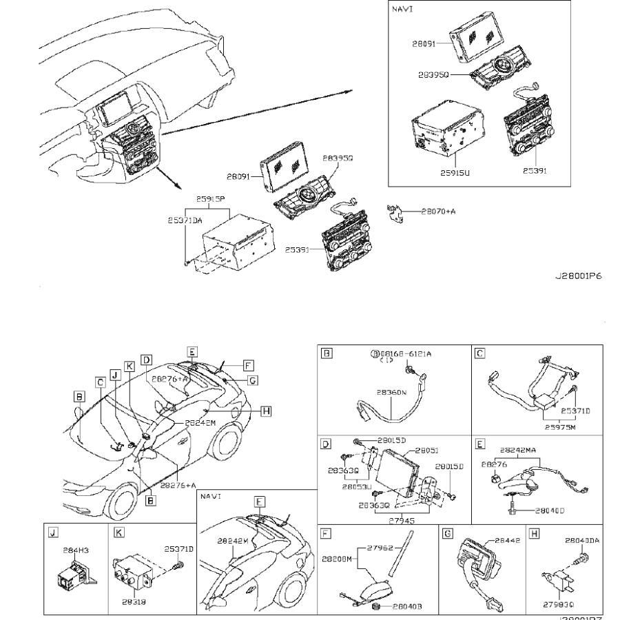 Nissan Altima Gps Navigation System. AUDIO, ANTENNA, UNIT