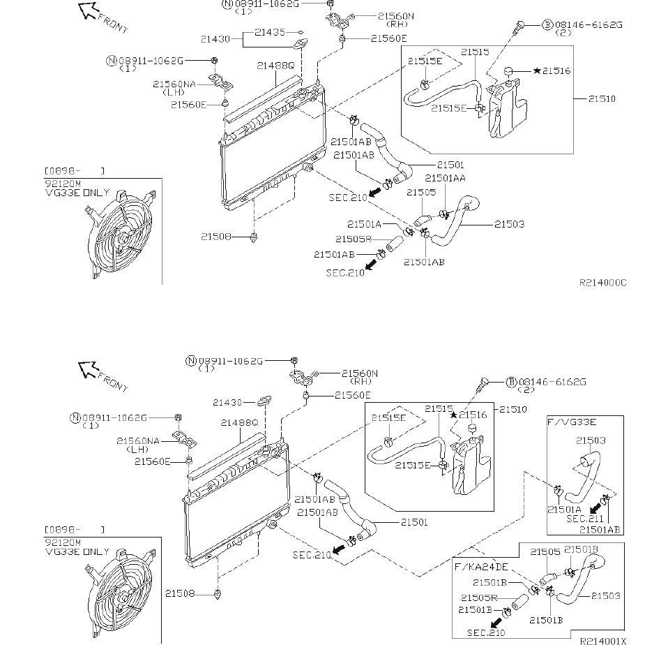 Nissan Frontier Engine Cooling Fan Shroud (Lower). FITTING