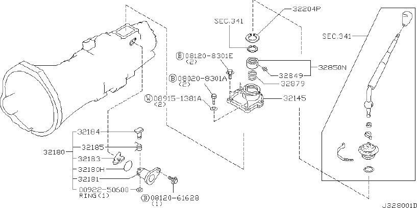 Datsun PICKUP Spring-control lever. Shift, rod, fork