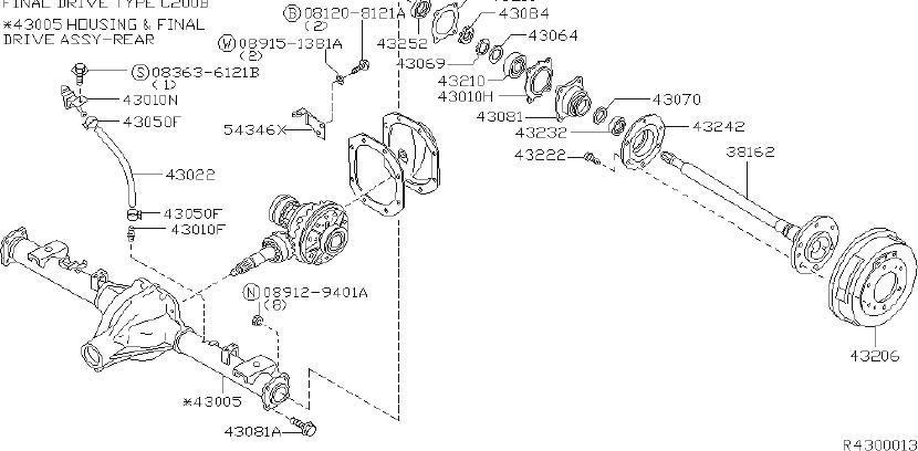2000 Nissan Frontier Drive Axle Shaft Bearing (Rear