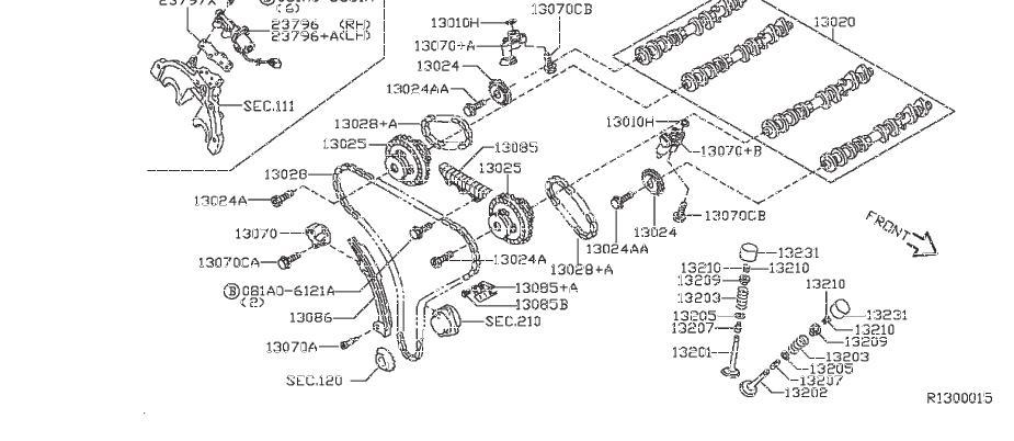 Nissan Frontier Engine Camshaft. VALVE, MECHANISM