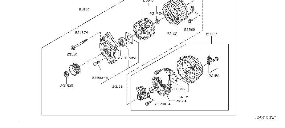 Nissan Quest Voltage Regulator. MITSUBISHI, ALTERNATOR