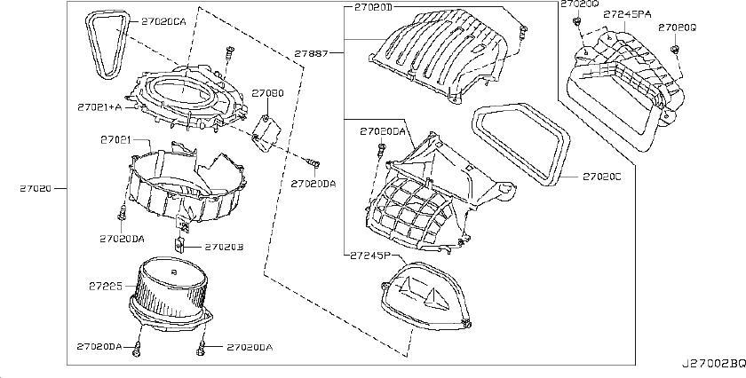2000 Nissan Maxima Blend Door Actuator Photos