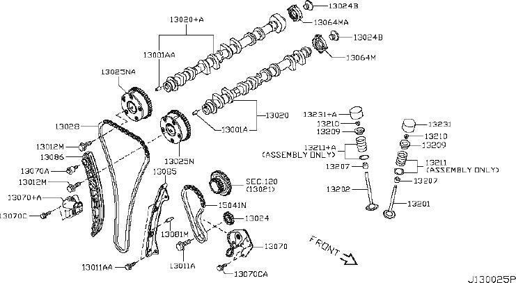 2015 Nissan Juke Engine Camshaft. VALVE, MECHANISM, VTC